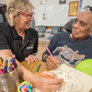 Activity time at the Normanton Aged Care Facility